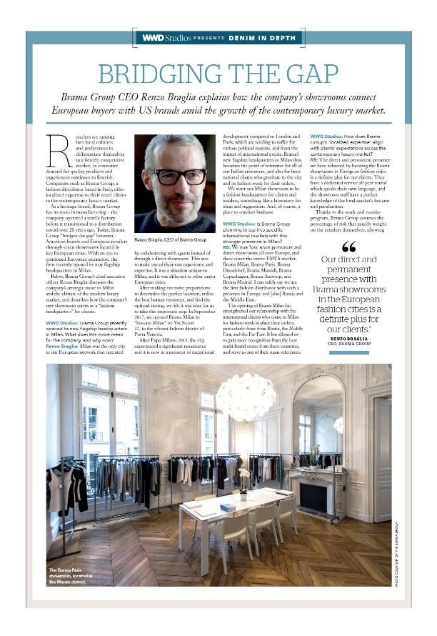 WWD - Brama Srl, Leading Fashion distributor, with a